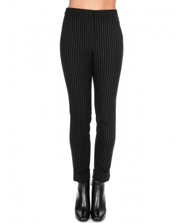 KI6 - WHO ARE YOU? - Long Pant in Viscose - Black