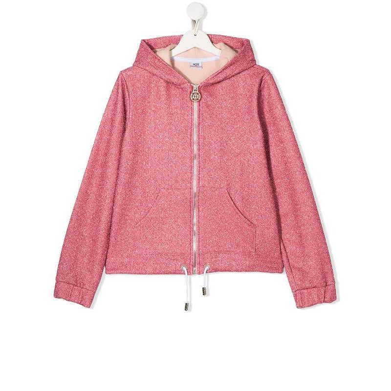 GCDS - Baby -  sweathirt zip lurex hood  art 22735