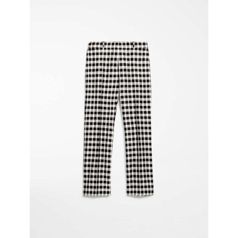 MAX MARA STUDIO - VIVETTA FabrIc and Cotton Trousers- Vanilla/Black