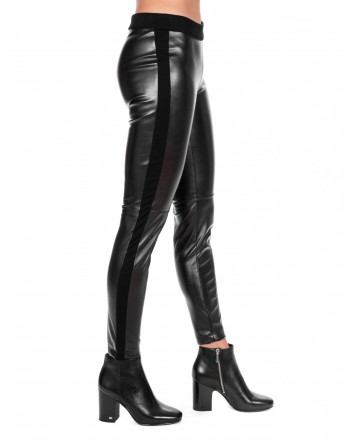KI6 - WHO ARE YOU? - Pantalone Leggings in misto lana - Nero