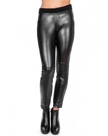 KI6 - WHO ARE YOU? - Wool mixed leggings trousers - Black