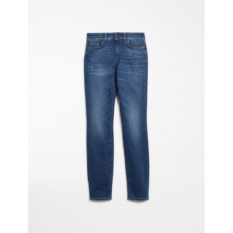 MAX MARA WEEKEND - Jeans skinny fit - NIGRA - Denim chiaro used