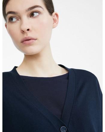 MAX MARA WEEKEND - Cardigan in silk and cotton yarn - SPONDA- Blue