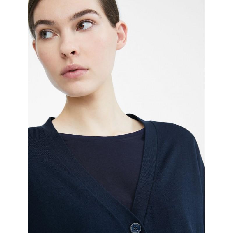 MAX MARA WEEKEND - Cardigan in filato di seta e cotone - SPONDA- Blu