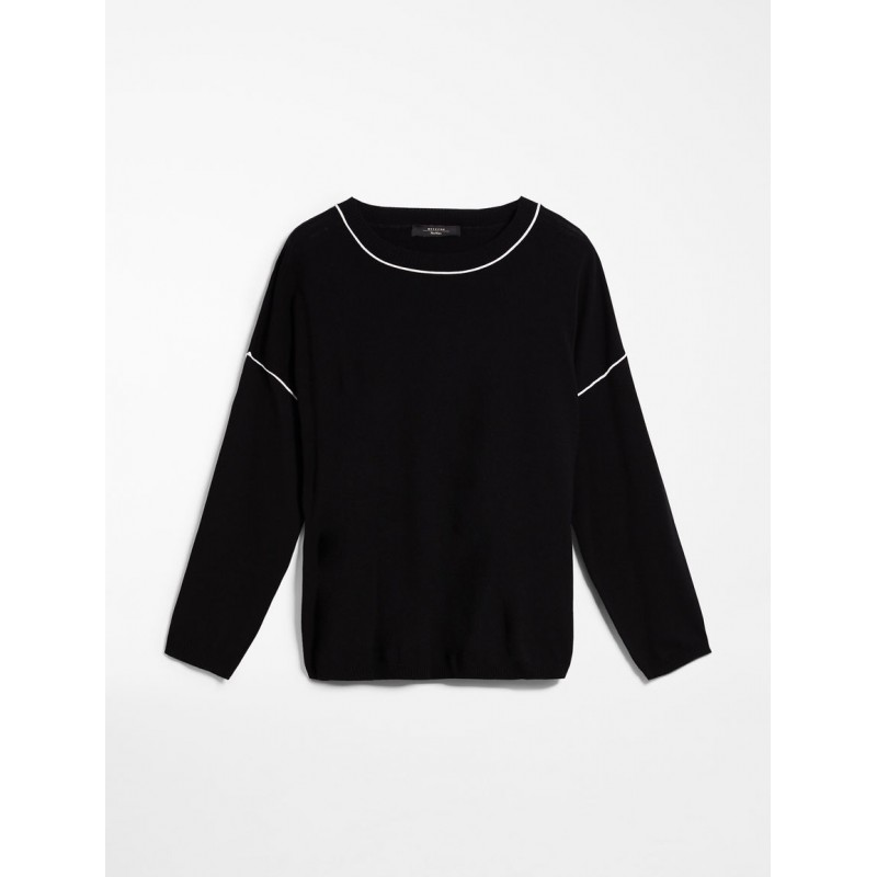 WEEKEND MAX MARA Viscose yarn sweater - SAIGON - Black