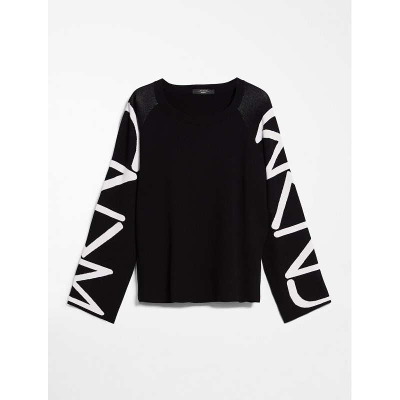 MAX MARA WEEKEND - Viscose yarn sweater - COSMOS - Black