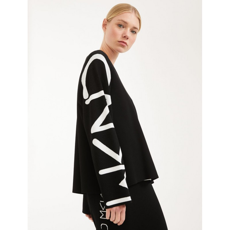 MAX MARA WEEKEND - Viscose yarn sweater - COSMOS - Black