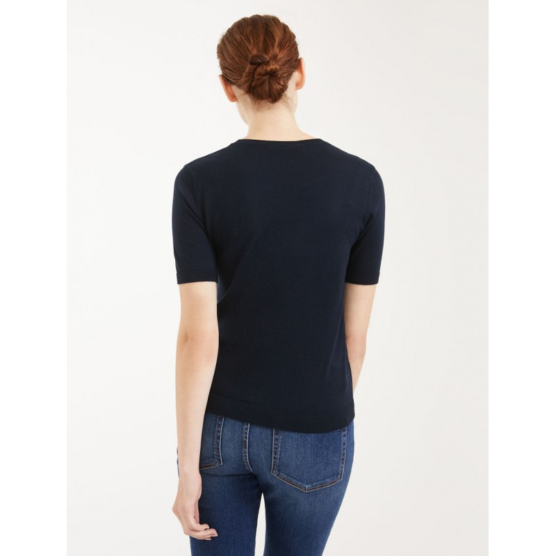 MAX MARA WEEKEND - Sweater in silk and cotton yarn - FACE - Blue