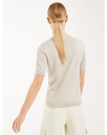 MAX MARA WEEKEND -Sweater in silk and cotton - VOLTO - Canapa