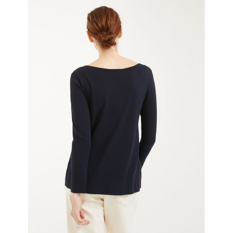 MAX MARA WEEKEND - Viscose yarn sweater - NIGELLA - Blue