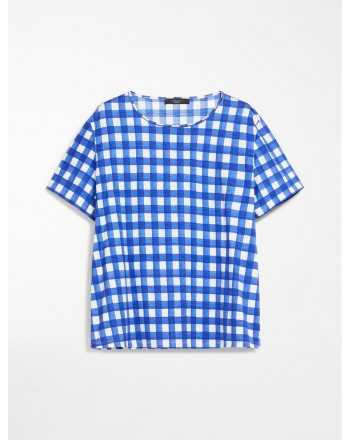 MAX MARA WEEKEND - T-shirt jersey di cotone - KUBAN - Vichy Ocean