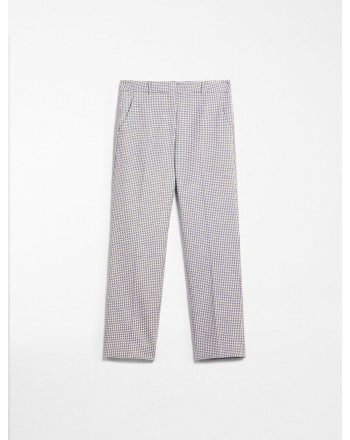 MAX MARA WEEKEND - Jacquard cotton trousers - HATELEY - Blue triangle