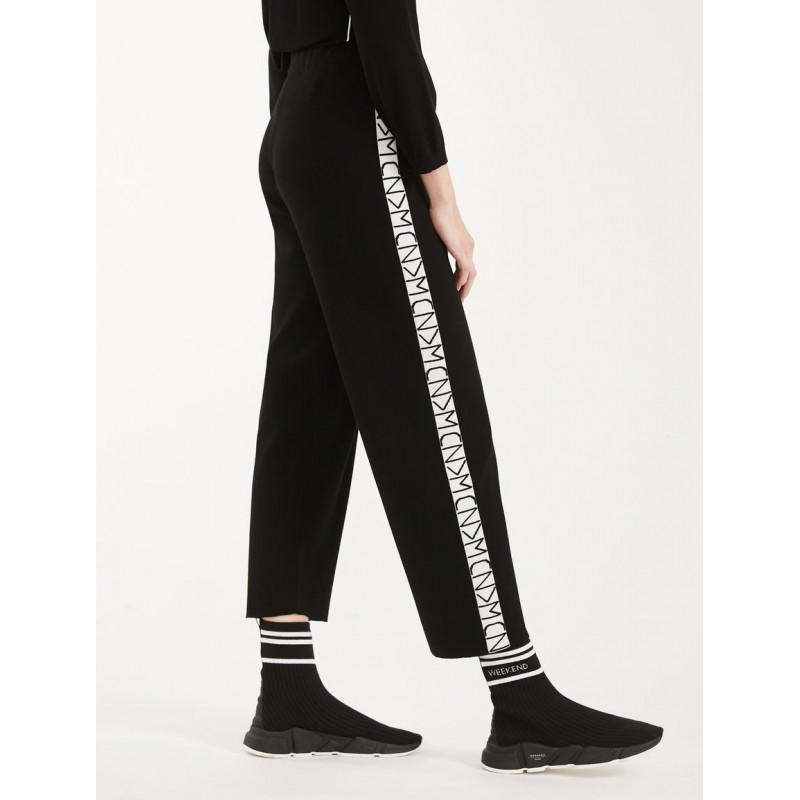 MAX MARA WEEKEND - Pants in viscose yarn - TEMPIO - Black