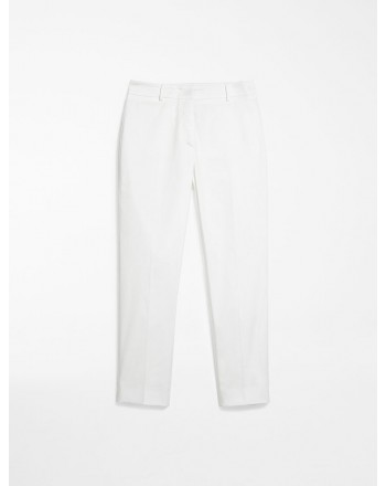 MAX MARA WEEKEND - Pantaloni in gabardina di cotone - OSELLA - Off white