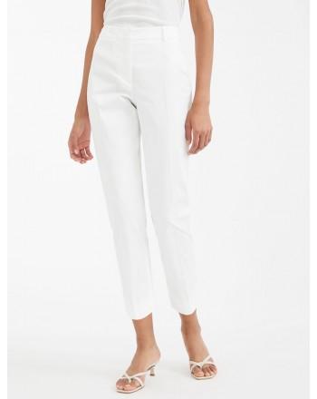 MAX MARA WEEKEND - Cotton gabardine trousers - OSELLA - Off white