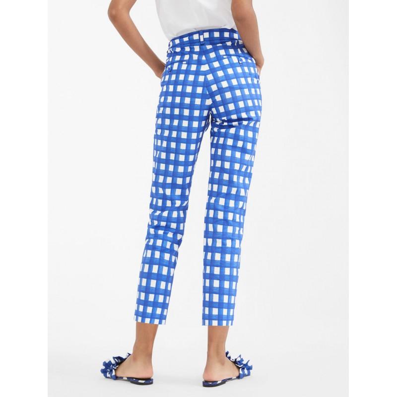 MAX MARA WEEKEND - Cotton faille trousers - CANARD - Ocean