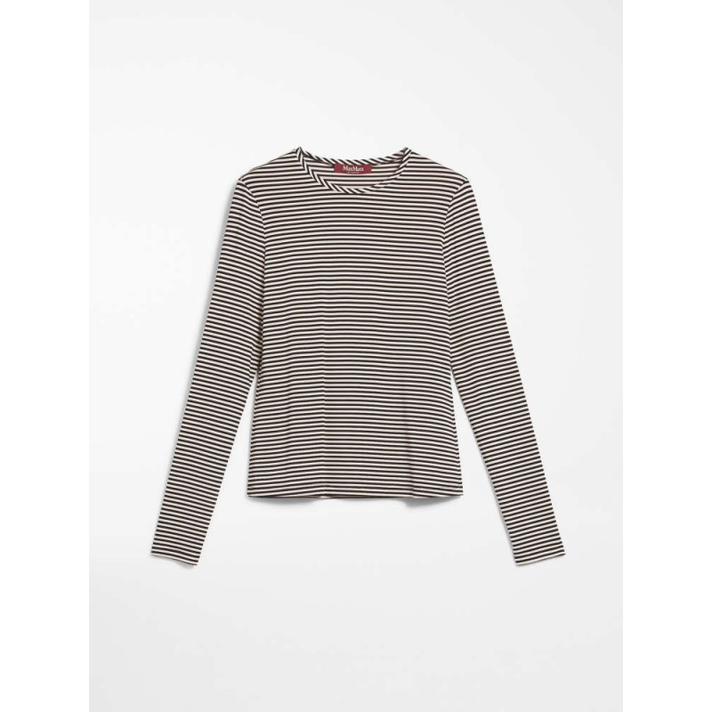 MAX MARA STUDIO - FALANGE Striped Knit-  Powder/Black
