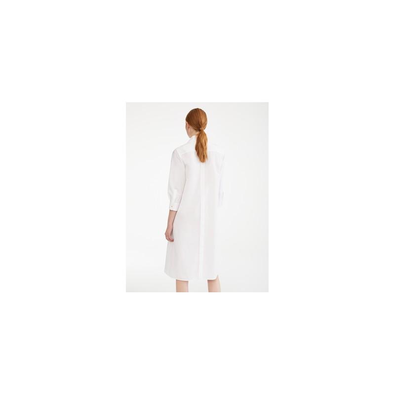 MAX MARA - Abito popeline di cotone - VIBO - Bianco