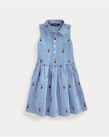 POLO RALPH LAUREN KIDS - BEAR DRESS STRIPES