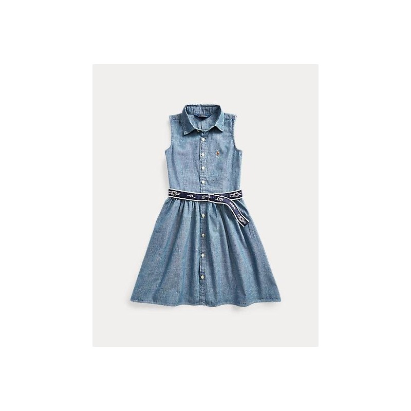 POLO RALPH LAUREN KIDS - DENIM DRESS CHAMBRAY