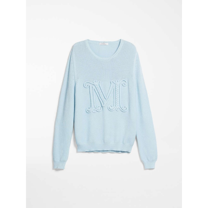 MAX MARA - Cotton cord sweater - GALA - Light blue