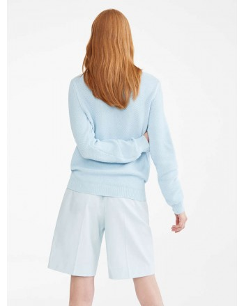 MAX MARA - Cotton cord sweater - GALA - Light blue