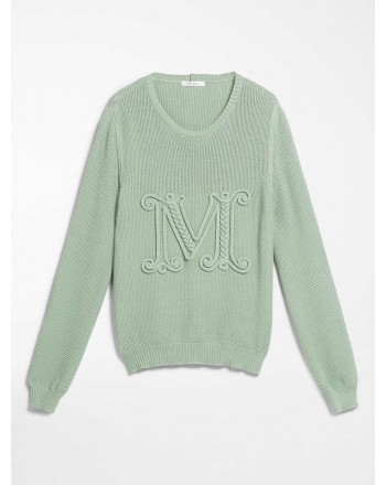 MAX MARA - Cotton cord sweater - GALA - Light Green