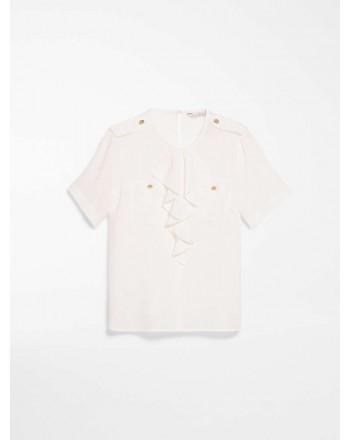 MAX MARA - Shirt in silk crepes - CARAVAN - White