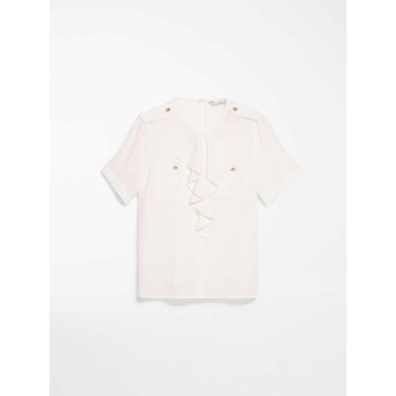 MAX MARA - Camicia in crepes di seta - CARAVAN - Bianco
