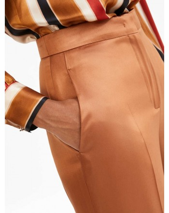 MAX MARA STUDIO - AOSTA Cady Trousers -Terracotta