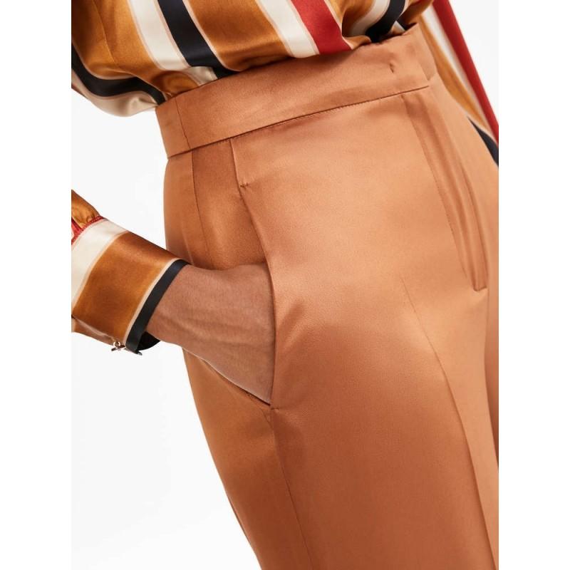 MAX MARA STUDIO - Pantalone  in Cady AOSTA - Terracotta