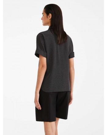 MAX MARA - Shirt in silk crepes - CHILE - Black / White