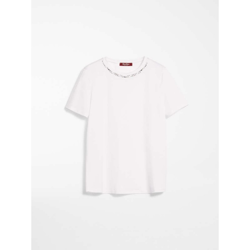 MAX MARA STUDIO - RIBE Jersey Cotton T-Shirt -White
