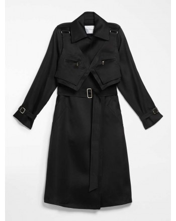 MAX MARA - Silk gaza trench coat - MAESA - Black