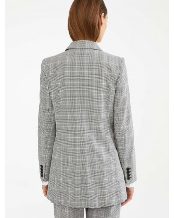 MAX MARA - Cotton crep blazer - FEATHER - White / Black