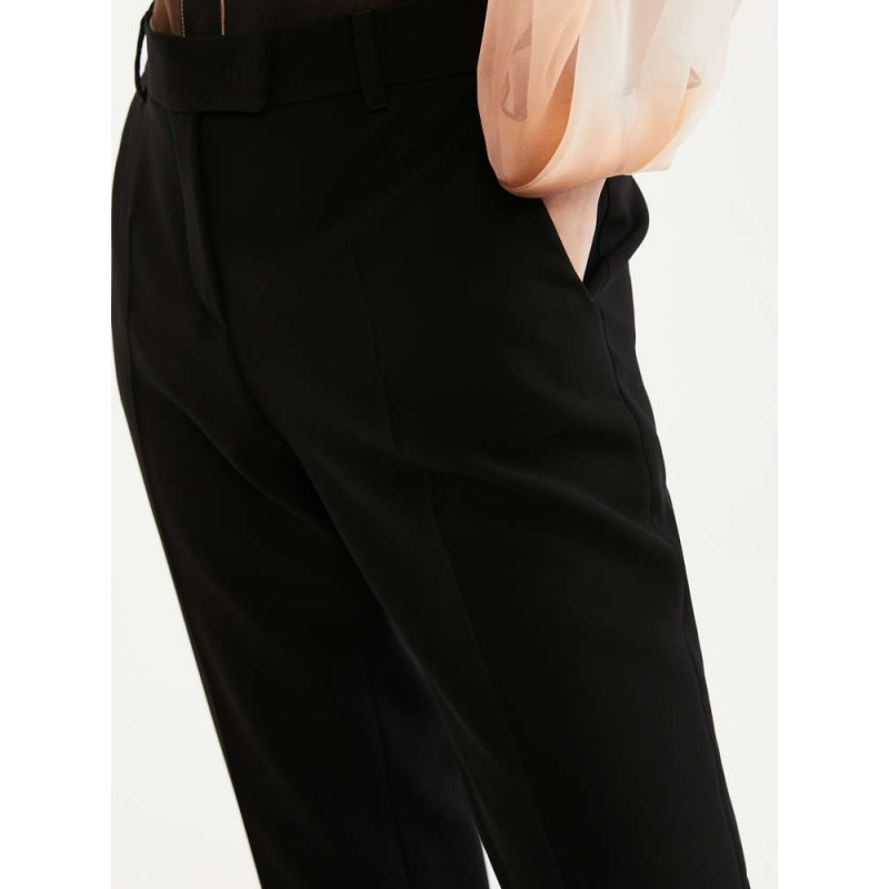 MAX MARA STUDIO - JERTA Cady Trousers- Blue/White