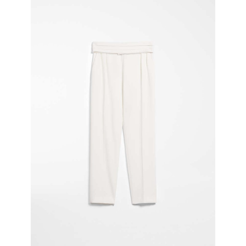 MAX MARA - Pantaloni in cady - ANAGNI- Bianco