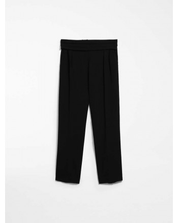 MAX MARA - Cady trousers - ANAGNI - Black