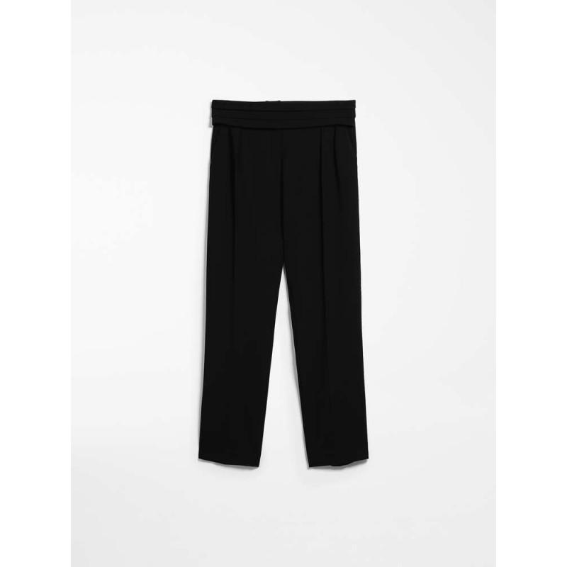 MAX MARA - Pantaloni in cady - ANAGNI - Nero