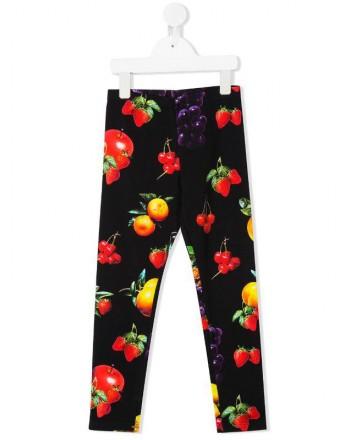 MSGM Baby- Fruit Printed Leggings- Black