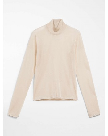 MAX MARA - Viscose yarn sweater - STONE - Albino / Camel