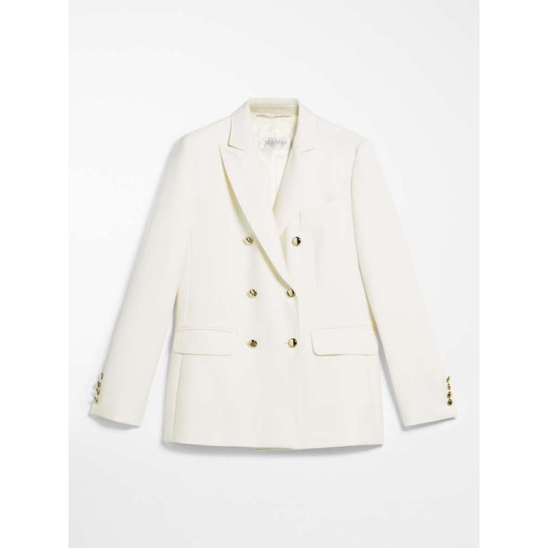 MAX MARA - Canvas blazer - MAGNET - White