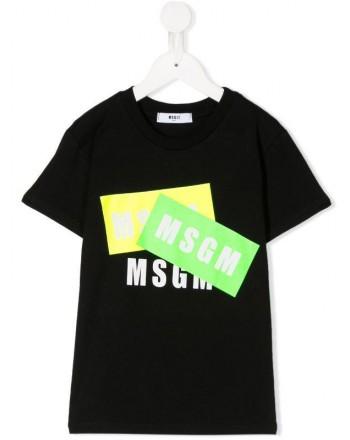 MSGM Baby- T-Shirt Stampa Logo - Nero