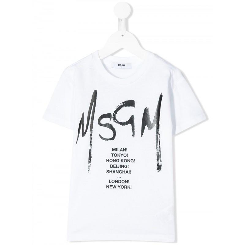 MSGM Baby- Printed T-Shirt- White
