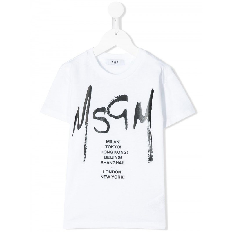 MSGM Baby- T-Shirt con Stampa  - Bianco