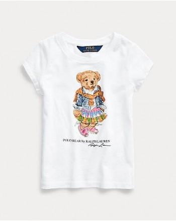 POLO RALPH LAUREN KIDS - T-SHIRT STAMPA ORSO