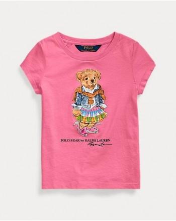 POLO RALPH LAUREN KIDS - T-SHIRT BEAR PRINT