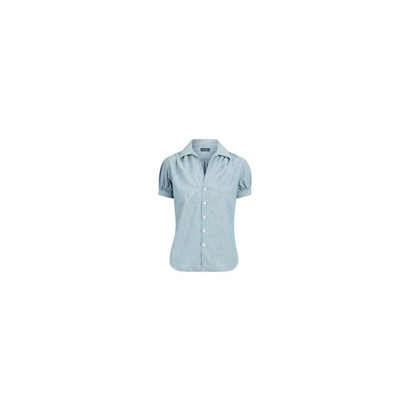 POLO RALPH LAUREN - SHORT SLEEVE CHAMBRAY SHIRT