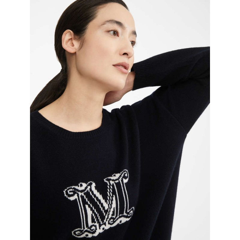 MAX MARA - Cashmere yarn sweater - UDINE- BLUE
