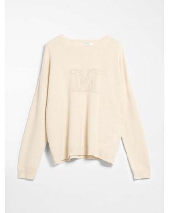 MAX MARA - Cashmere yarn sweater - UDINE- Melange cream